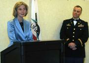 Congresswoman Lois Capps and Major Sean Malis.