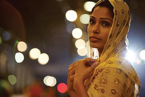 Freida Pinto in director Danny Boyle's <em>Slumdog Millionaire</em>.