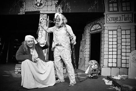Byron Hays and James Lashly give the holidays a twist in <em>Inspecting Carol</em>.