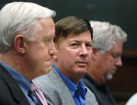 Mark Lee (center) at a previous Santa Barbara City Council hearing
