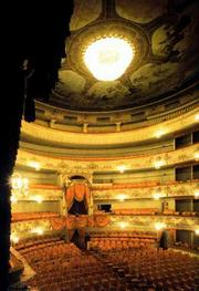 The interior of the Mikhailovsky Theatre.
