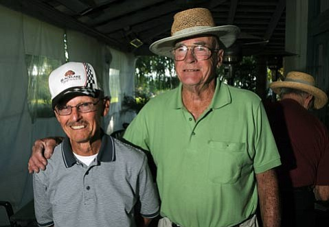 """Don Warner (left) introduced Bob Chilcott (right) to golf. """"Bob was fiery when he was younger,"""" said Warner. """"It steamed him to miss a shot."""""""