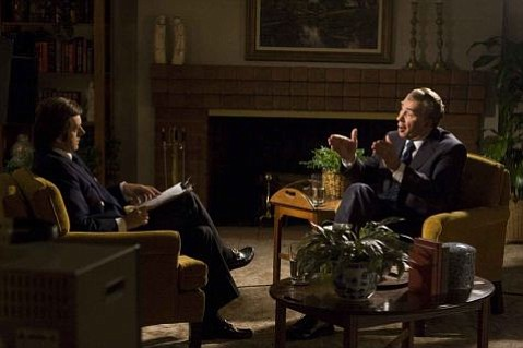 Michael Sheen (left) as David Frost and Frank Langella (right) as Richard Nixon in Frost/Nixon.