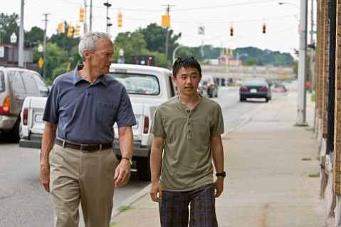 Clint Eastwood (left) and Bee Vang (right) star in Gran Torino.