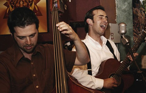The Johnny Starlings' Daniel Seeff (left) and Jody Mulgrew (right) will bring their band to Muddy Waters Cafe this Saturday night.