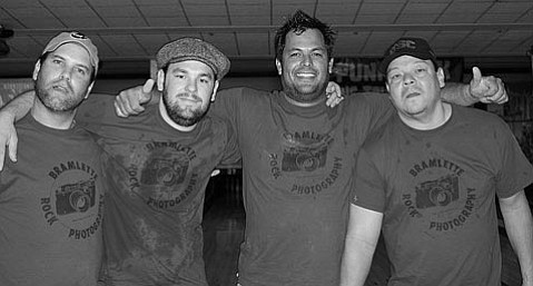 From left: Danny, Tim, Ben, and Albert win it all at last year's Punk Rock Bowling tournament.
