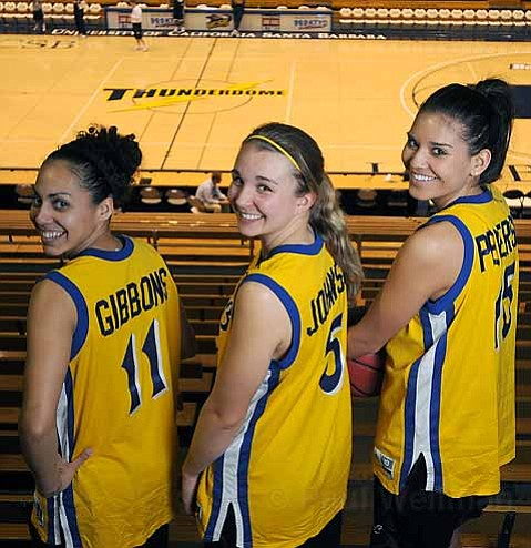 Gaucho playmakers Sha'Rae Gibbons, Emilie Johnson, and Lauren Pedersen have propelled the UCSB women to a recent five-game winning streak.