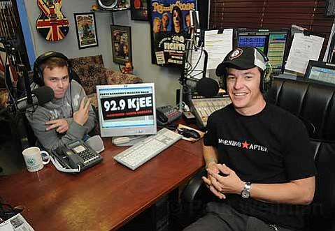 KJEE's Morning DJs Adam (left) & Spencer