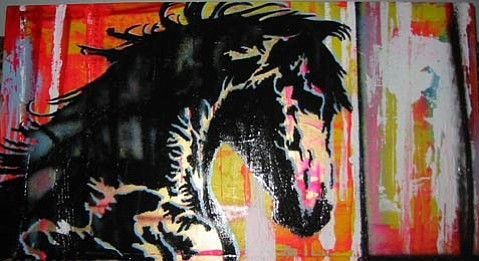 """Horse"" by painter Wallace Piatt"