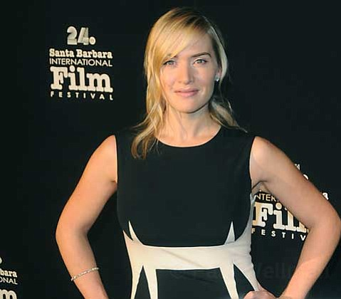 Kate Winslet on the red carpet at the 24th Annual Santa Barbara International Film Festival