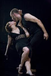 "Ariel Freedman and Eric Beauchesne in Barton's ""Lascilo Perdere."""
