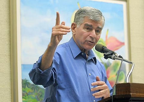"TRAIN TALK:  ""If I had beaten Bush I, you would never have had Bush II, so we'd never have been in this mess,"" joked former presidential candidate Michael Dukakis of the lack of progress made with alternative transportation during George W. Bush's presidency. ""It's all my fault, and I apologize for it."""