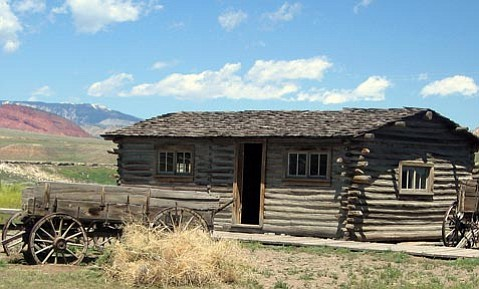 This cabin (moved from Wyoming/Montana border to Cody, Wyoming) is where the Sundance Kid planned the Red Lodge Bank robbery.