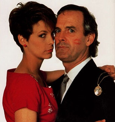 Jamie Lee Curtis as Wanda Gershwitz and John Cleese as Archie Leach in the film A Fish Called Wanda, which screens at UCSB on February 9.