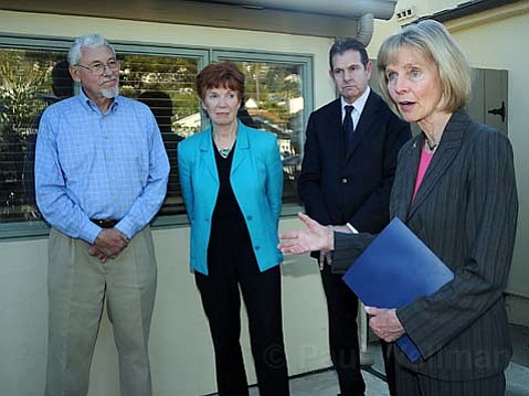 Congressional visit:  Lois Capps wants to help those who help the uninsured.