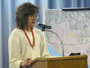 Tainted money:  Heal the Ocean's Hillary Hauser tried to shame Goleta City Manager Dan Singer, as well as Eric Onnen and his fellow councilmembers into backing off of their scheme to take over the Goleta West Sanitary District.