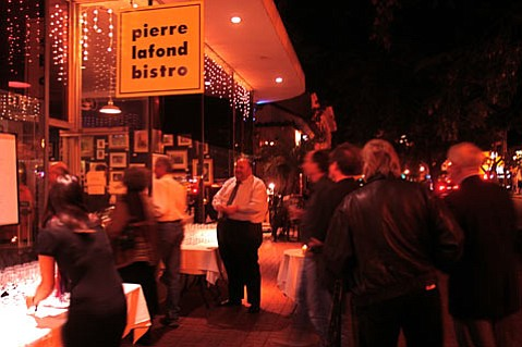 Pierre Lafond on State Street hosted a post-screening blind wine tasting, in honor of the 1976 French tasting which is featured in <em>Bottle Shock</em>, an event that legitimized California wines in the eyes of the world.