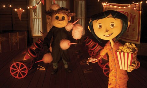 Dakota Fanning voices the main character in <em>Coraline</em>.