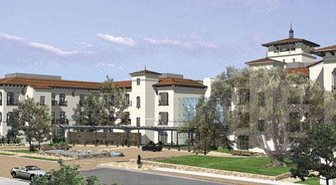 Rendering of the Main Entrance, View from Pueblo Street