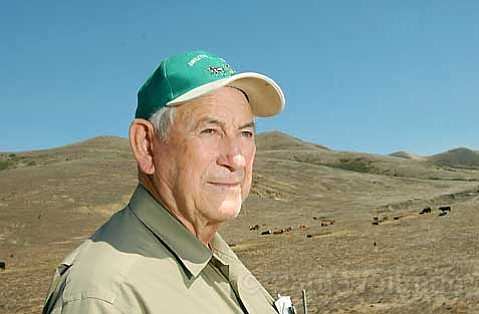 GREEN ENERGY:  Cattle rancher Leroy Scolari (pictured) may soon be in the wind farm business. County Supervisors denied the appeals of Lompoc wind farm detractors this week. Scolari and six other Lompoc property parcel owners have leased their land to Acciona Energy to help make the wind farm a reality.