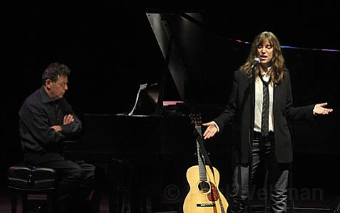 Philip Glass and Patti Smith at Campbell Hall