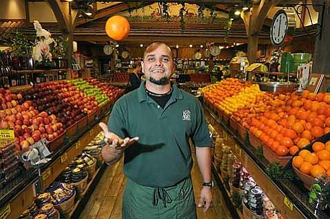 Lazy Acres Produce Manager Fernando Brito Macias