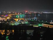 Azerbaijan's capital city of Baku, at night