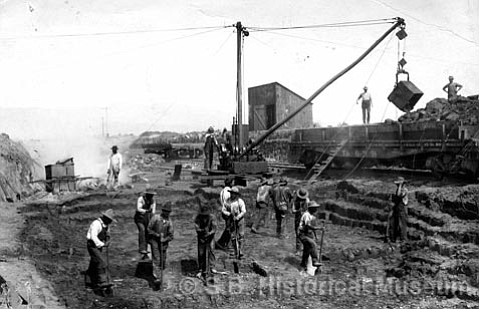 Carpinteria was one of the primary asphalt mining sites (shown here in 1900) on the South Coast.