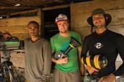Dave Homcy, t.moe, and Mike Stewart in Sumatra.