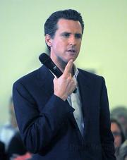 San Francisco Mayor Gavin Newsom