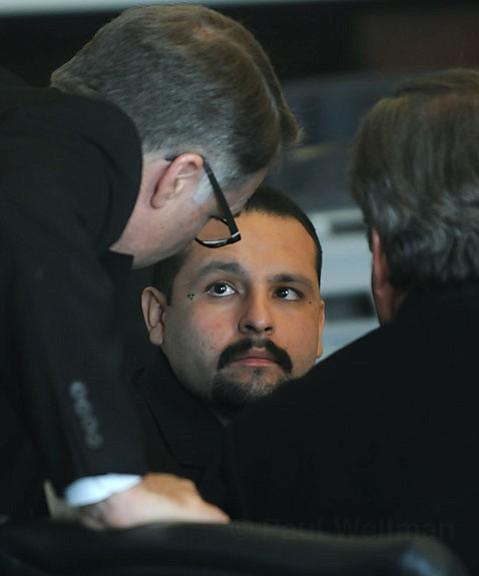 Johnny Lopez at his sentencing