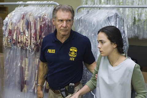 Harrison Ford is an immigration agent with a heart in <em>Crossing Over</em>.