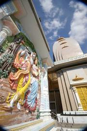 The Barsana Dham temple and ashram complex