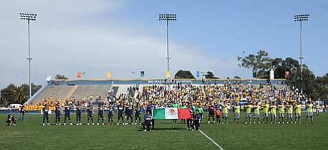 About 8,000 enthusiastic fans showed up at UCSB's Harder Stadium to watch Club America and Atletico Morelia go head-to-head on Sunday.