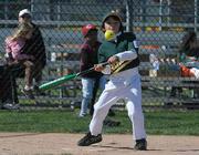 Athletics Abel Gutierrez gets a hit