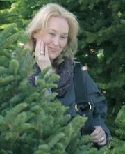 Meryl Streep on the set