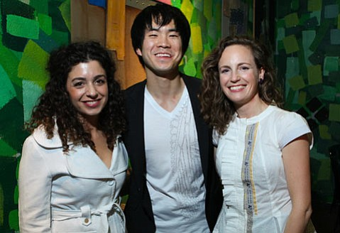 Camerata Pacifica principals Ani Aznavoorian, Richard O'Neill, and Catherine Leonard performed Beethoven at Roy.