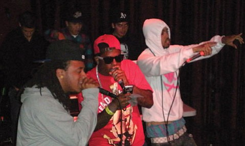 Berkeley hip-hop group The Pack dished out a hearty helping of rhymes during their Friday night show at Velvet Jones.
