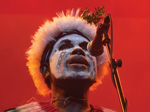 George Telek has been an influential force in popularizing the music and culture of Papua New Guinea for more than 20 years. This week, he brings a mixed Papua New Guinean/Australian aboriginal ensemble, Sing Sing, to Campbell Hall.