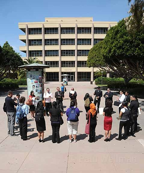 Committee to Defend Academic Freedom at UCSB outside Cheadle Hall