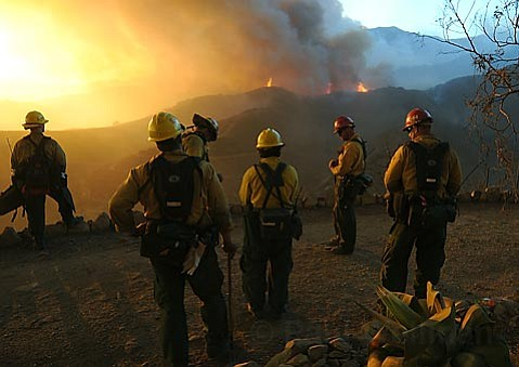 Los Padres National Forest Service fire fighters