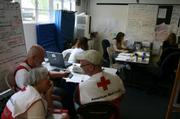 Red Cross team at the Santa Barbara's Emergency Operations Center (EOC)