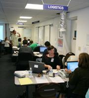 The Logics team in Santa Barbara's Emergency Operations Center (EOC)