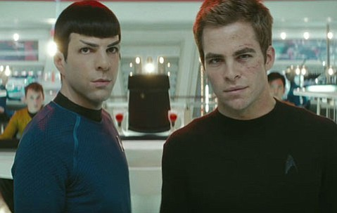<em>Star Trek</em> brings your nerdy TV fantasies to the big screen. Zachary Quinto plays Spock and Chris Pine is James T. Kirk.