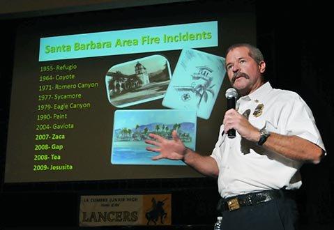 Santa Barbara County Fire Chief Tom Franklin