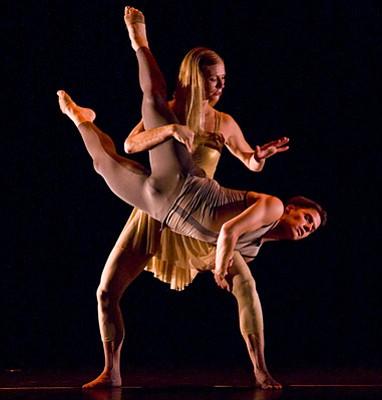 SBDT dancers Cybil Gilbertson and Blake Hennessy-York.