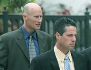 Josh Lynn (right) is the lead prosecutor in the case, aided by Hans Almgren (left).