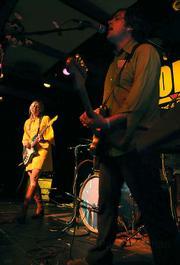 John Dragonetti (right) and Blake Hazard of the Submarines playing at Soho