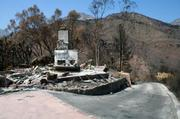 1497 Tunnel Road and surrounding landscape two weeks after the Jesusita Fire swept through.