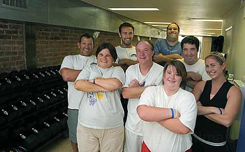 The Special Olympics athletes got a rigorous training session at State Street's Conditioning Specialists.